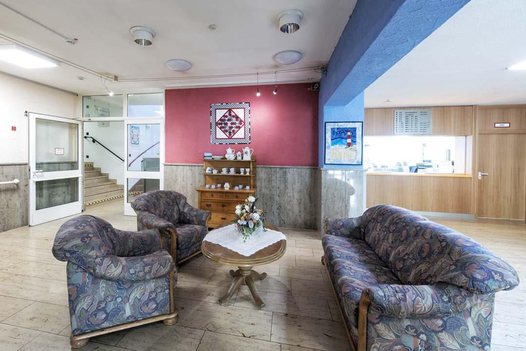 Dieses Bild zeigt eine gemütliche Sitzecke im AWO Seniorenzentrum Weißenburg