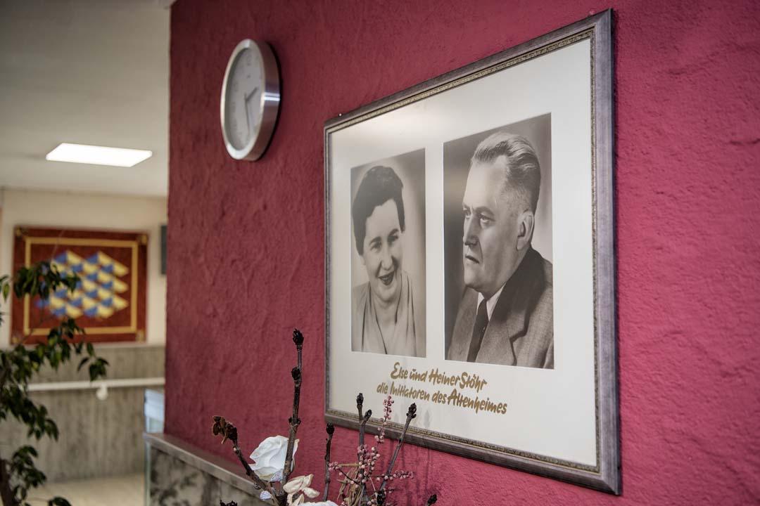 Dieses Bild zeigt Else und Heiner Stöhr, die maßgeblich zur Errichtung des AWO Seniorenzentrum Weißenburg beigetragen haben